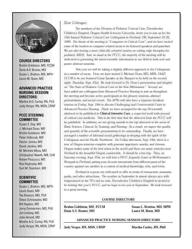 1999 pediatric critical care colloquium for Pdf document versions